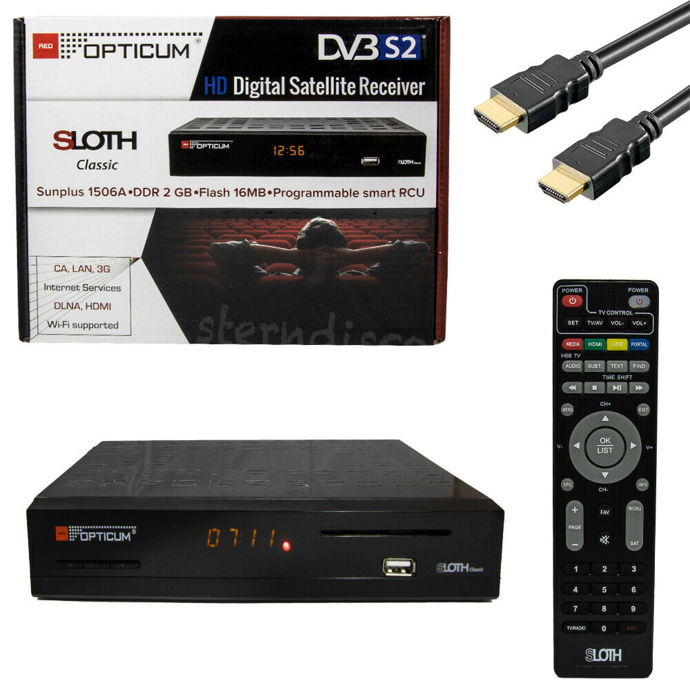opticum sloth classic plus hdtv digital sat receiver. Black Bedroom Furniture Sets. Home Design Ideas