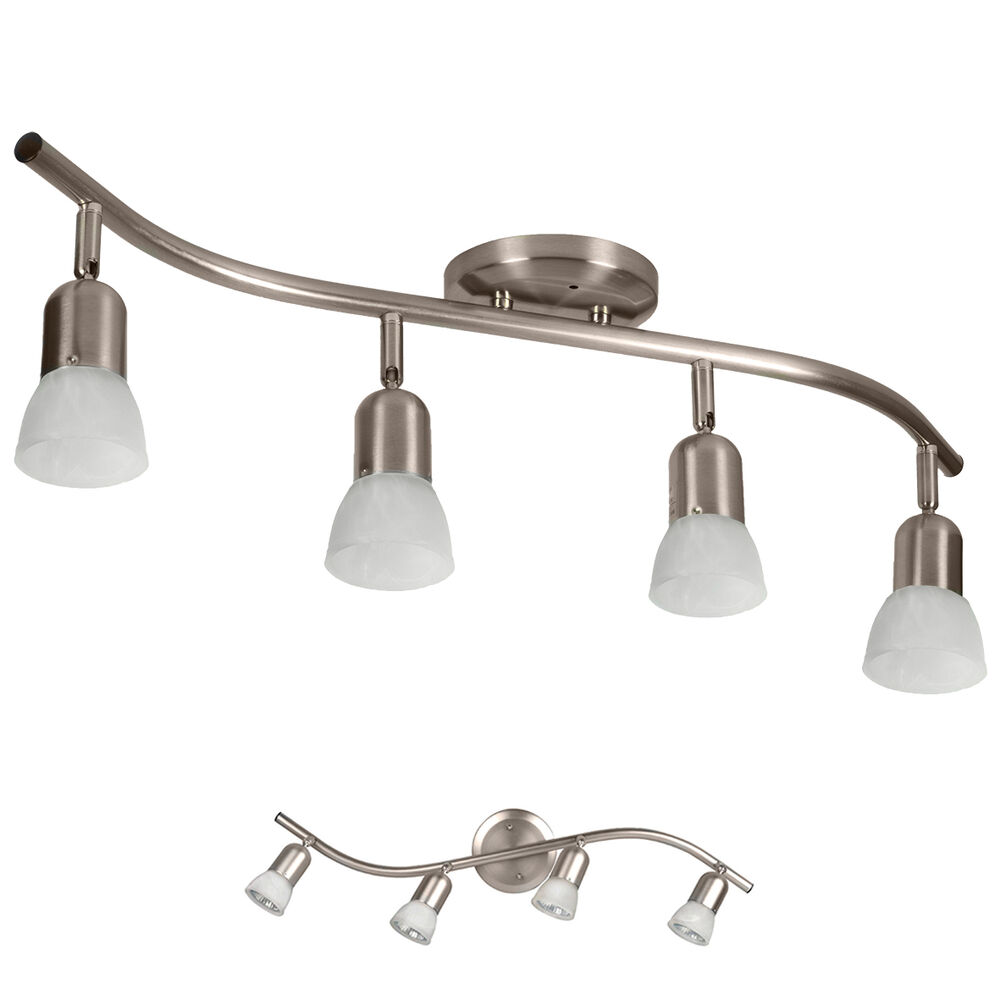 4 light track lighting ceiling wall adjustable interior - Brushed bronze bathroom light fixtures ...