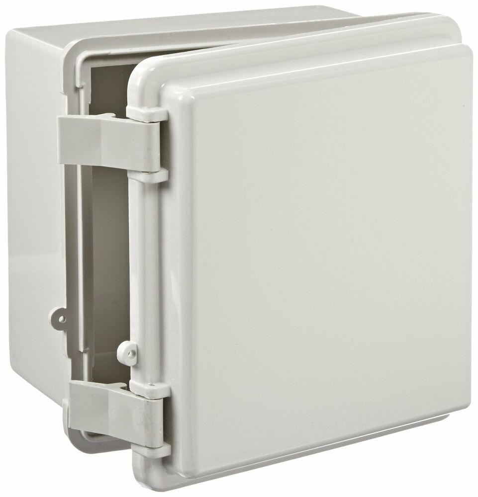Bud industries plastic nema box enclosure outdoor weatherproof electrical ebay for Exterior electrical outlet box