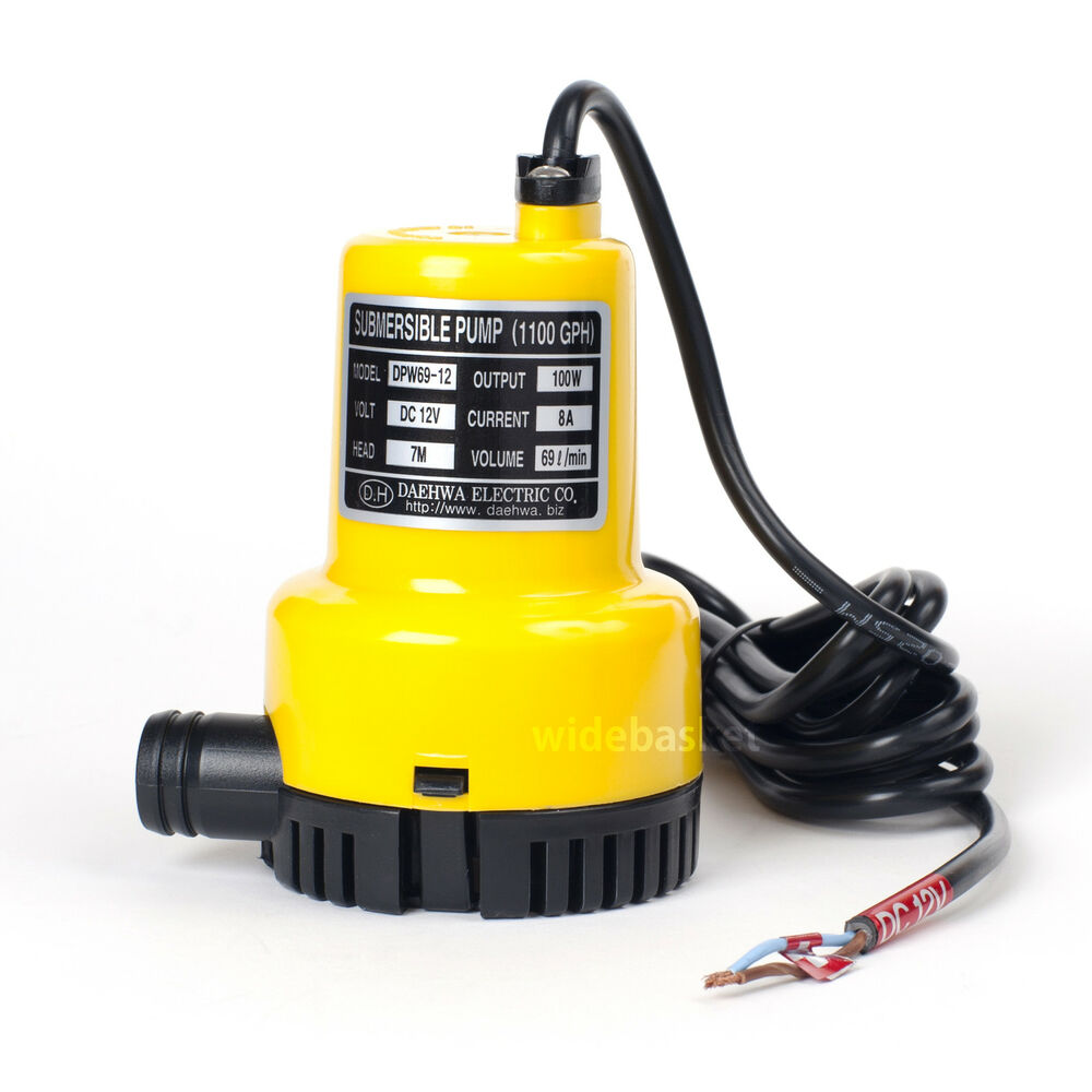 Dpw69 12 dc 12v 100w small submersible water pump 1100gph for Best small pond pump