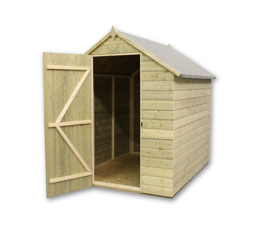 Garden shed pressure treated tanalised apex tongue for Garden shed 7x6
