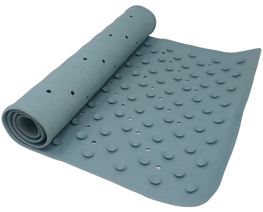 Blue Anti Fungal Non Slip Bath Mat Bathtub Mat With