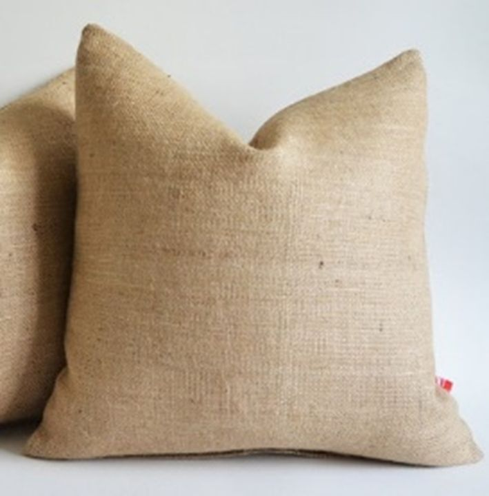 15 Inch Throw Pillow Covers : Burlap Pillow Cover 16 X 16 inches Inch Rustic Decor eBay
