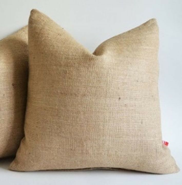 Decorative Burlap Pillow Covers : Burlap Pillow Cover 26 X 26 inches Inch Rustic Decor eBay