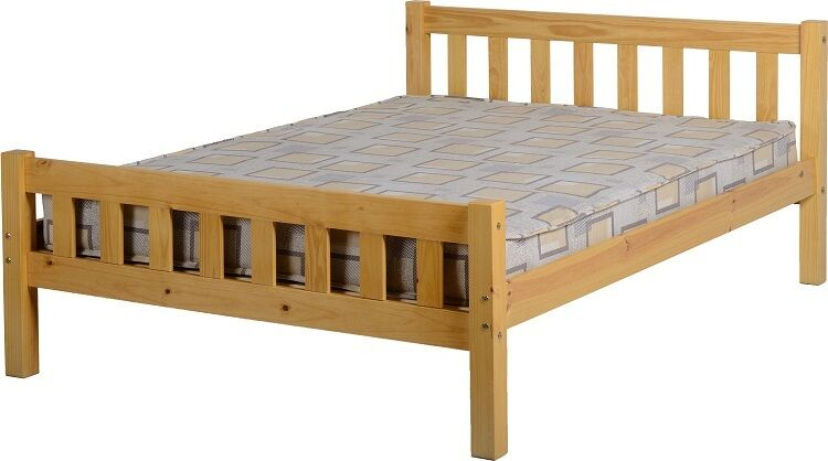 Carlow double 4ft 6 solid antique pine wood bed frame ebay for Divan beds double 4ft 6 sale