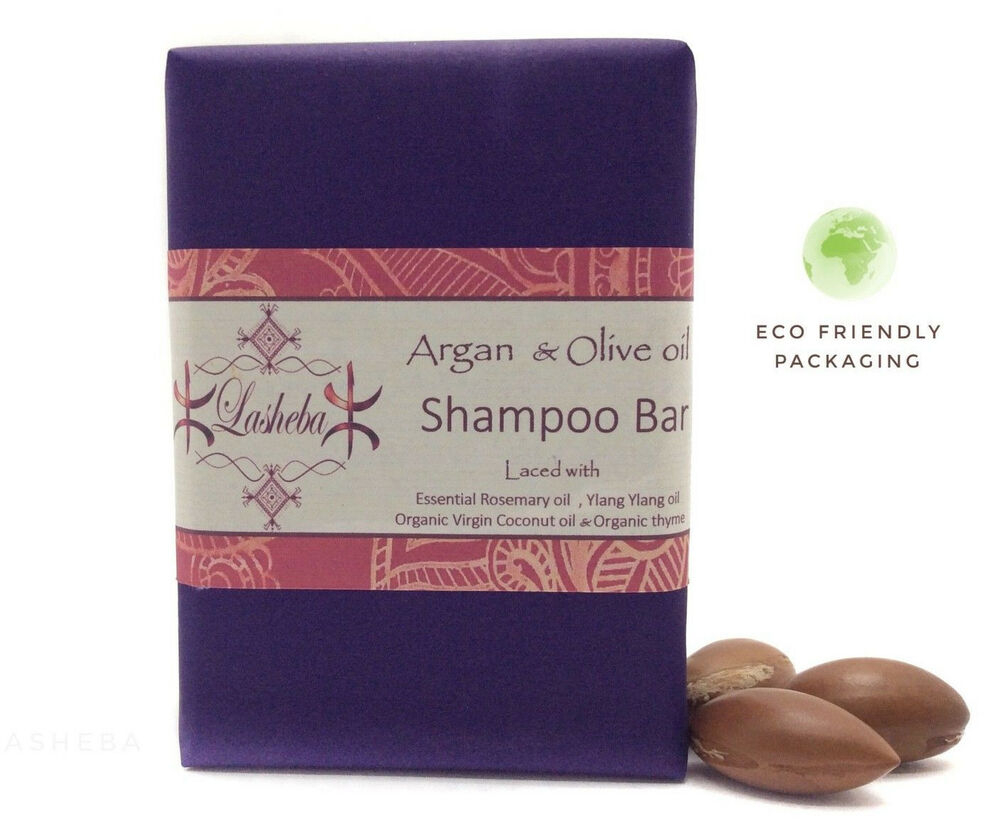 organic argan oil olive oil shampoo bar with rosemary ylang ylang oil ebay. Black Bedroom Furniture Sets. Home Design Ideas