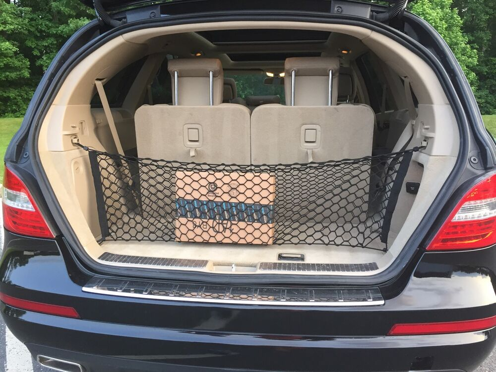 envelope style trunk cargo net for mercedes benz r class 2006 2013 new ebay. Black Bedroom Furniture Sets. Home Design Ideas