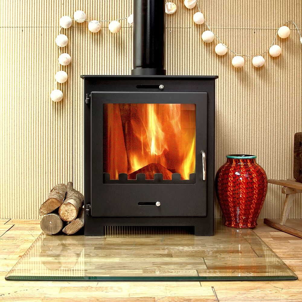 Nero 11kw contemporary modern woodburning stove stoves log Wood burning stoves
