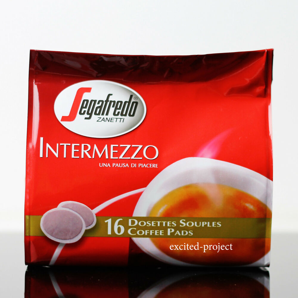 Italian Coffee Maker Pods : Segafredo Intermezzo Italian Coffee Caffe Pods - Pods For Senseo Coffee Makers eBay