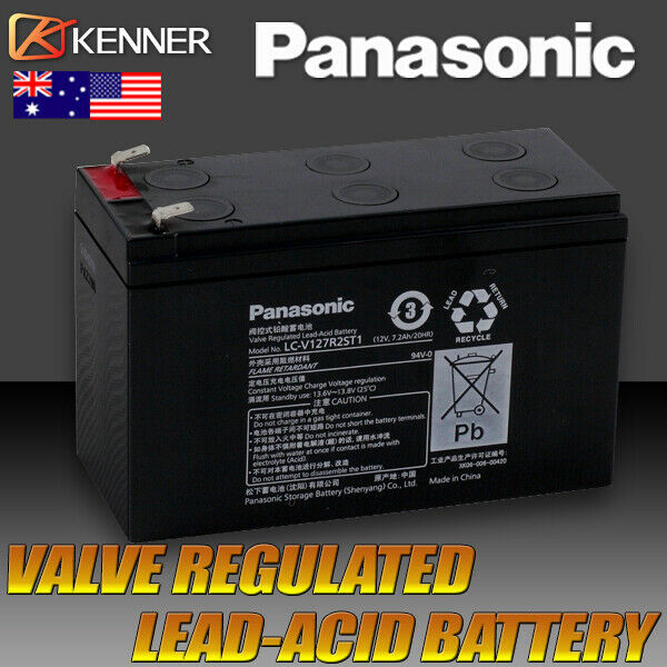panasonic 12v ups gate battery 12 volt 7ah sealed. Black Bedroom Furniture Sets. Home Design Ideas