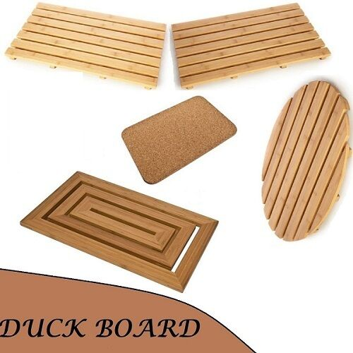 new duck board wooden natural wood bamboo bathroom oval. Black Bedroom Furniture Sets. Home Design Ideas