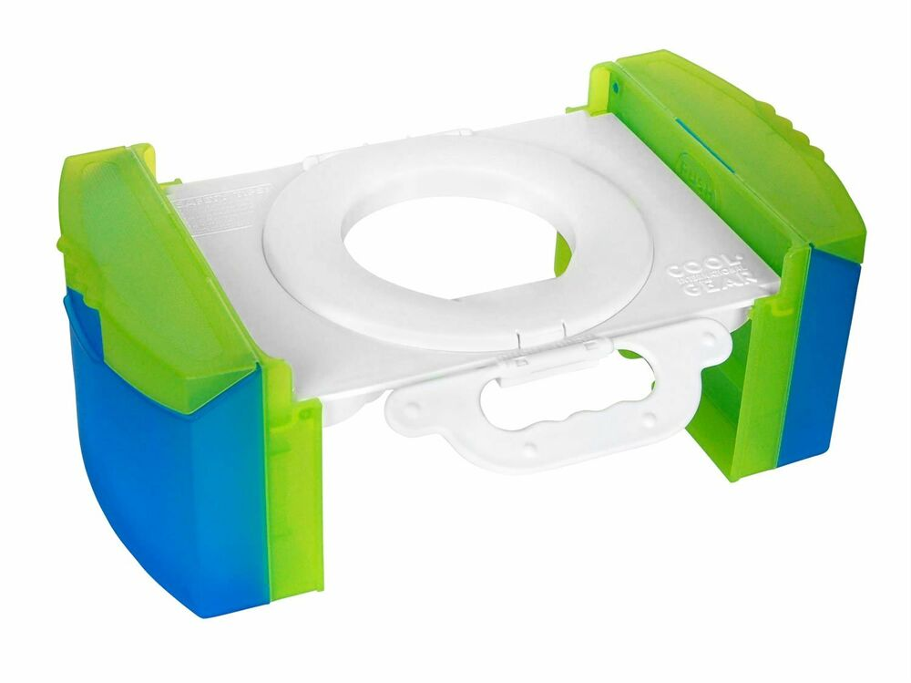 Cool gear kids portable folding potty training chair seat travel bathroom b140 ebay for Travel gear for toddlers