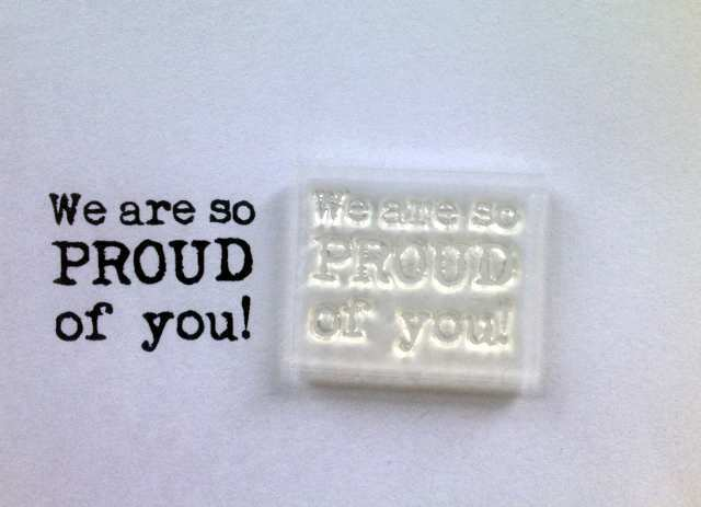 We Are So Proud Of You, Clear Typewriter Font Stamp For ...