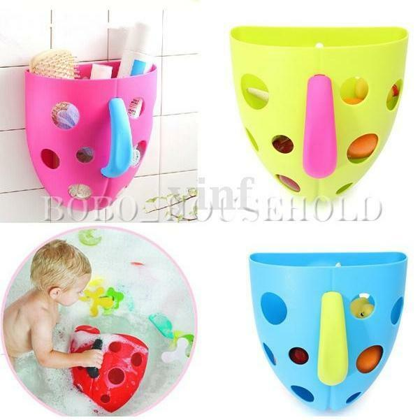 bath toy tidy organizer scoop toddler baby kid tub toys storage bin box sucker ebay. Black Bedroom Furniture Sets. Home Design Ideas