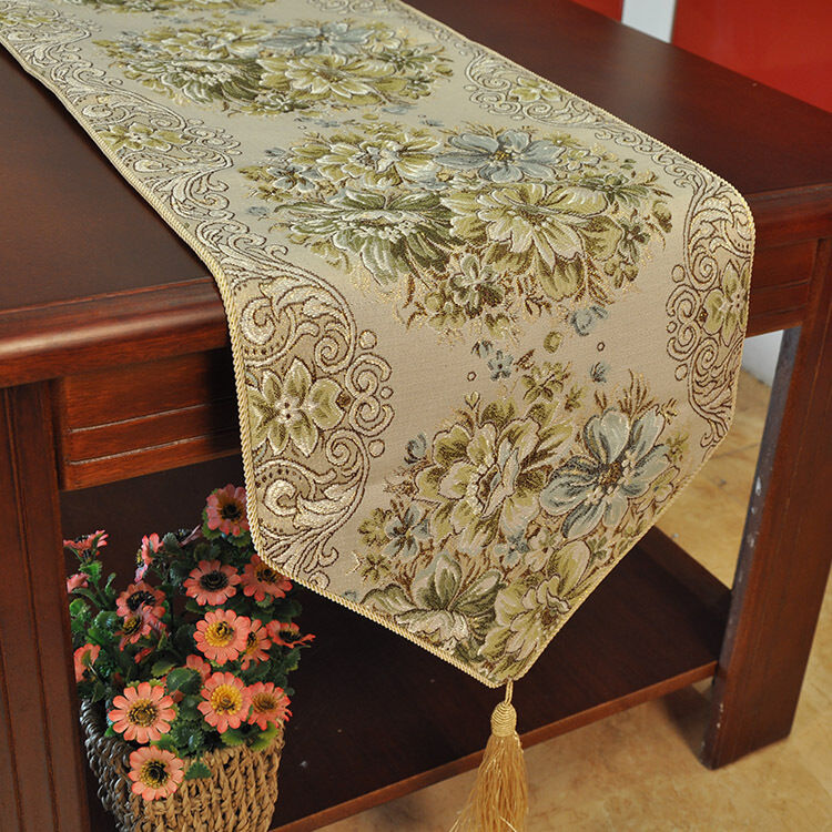 Classic Embroidery Tassel Dining Table Runners Hotel Bed Coffee Table Runners Ebay