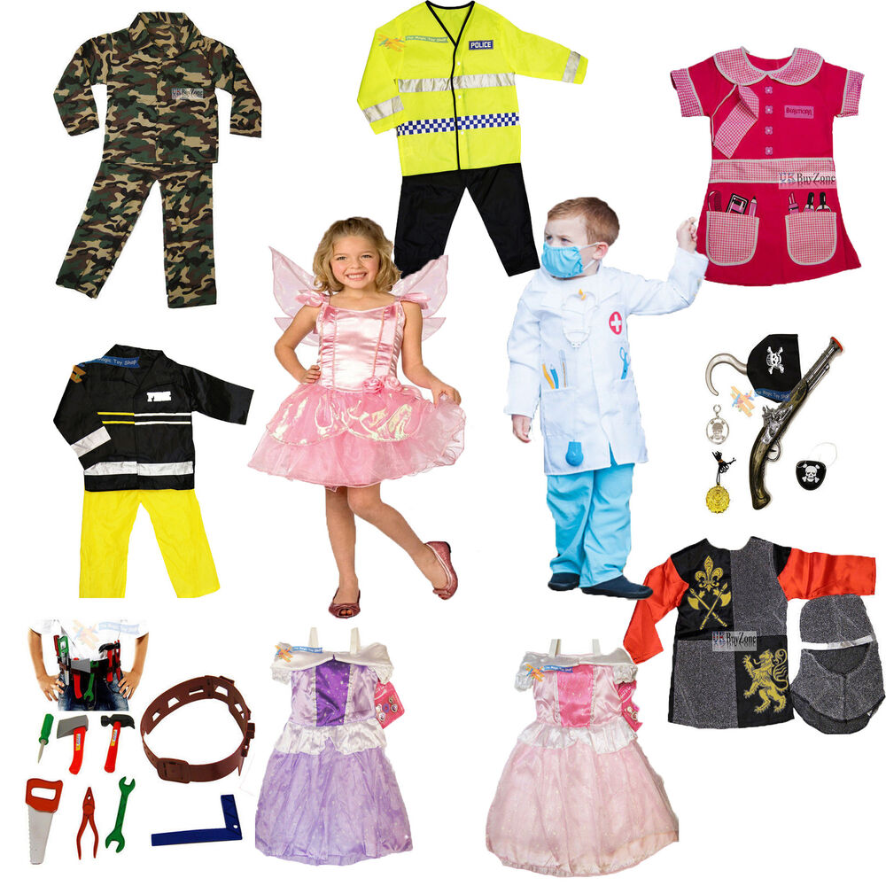 Girls Boys Dress Up Costume Childrens Kids Party Outfit Fancy Dress | eBay