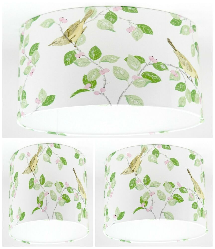 new lampshade handmade with laura ashley aviary garden. Black Bedroom Furniture Sets. Home Design Ideas