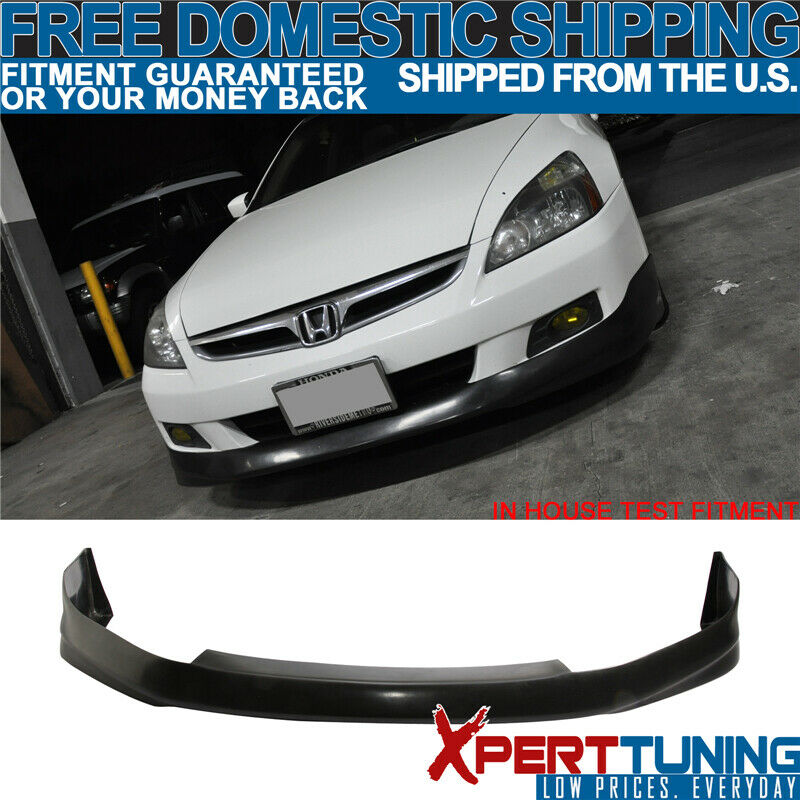 Details About Fits 2006 2007 Honda Accord 2dr Front Per Lip Spoiler Hfp Style Urethane