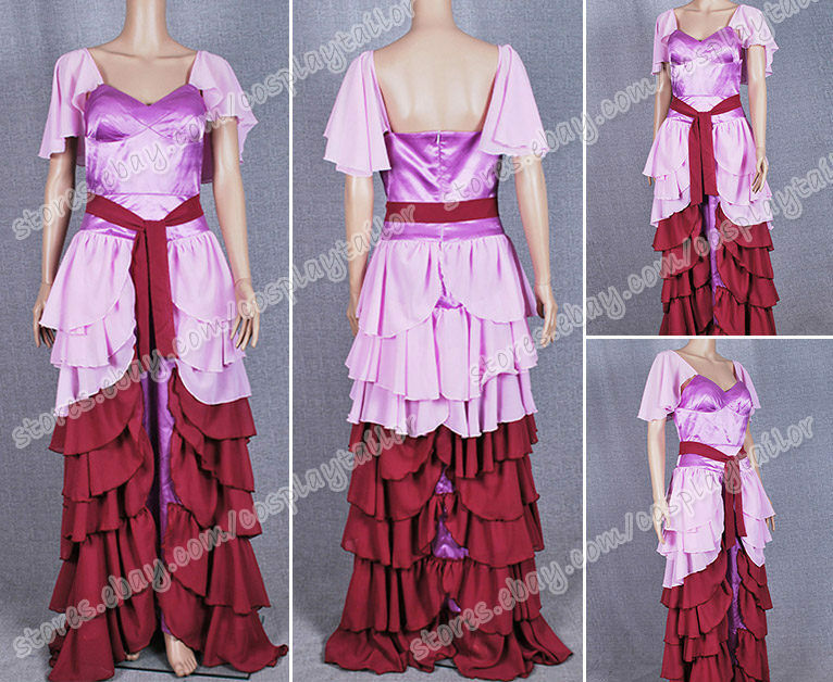 Harry Potter Cosplay Hermione Granger Costume Yule Ball Dress Pink Purple | eBay