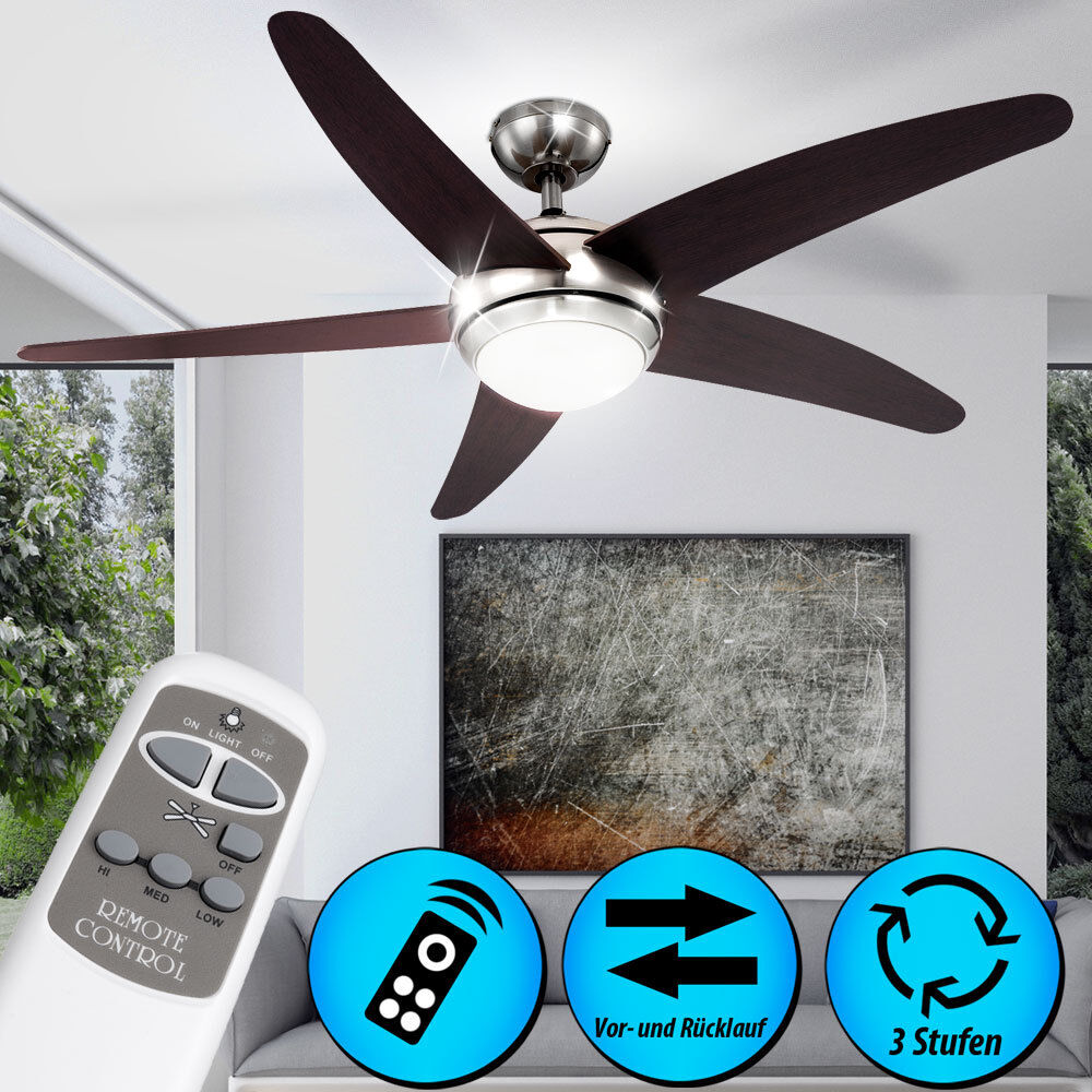 ceiling fan light remote control lighting dimmable living. Black Bedroom Furniture Sets. Home Design Ideas