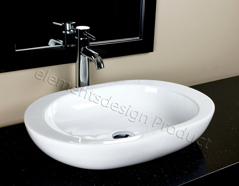 bathroom ceramic porcelain vessel sink chrome faucet and