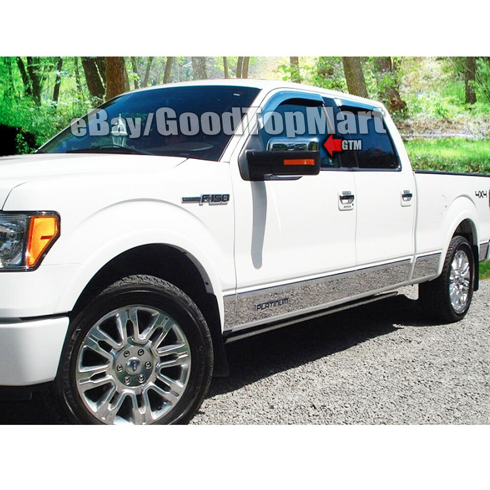 for 2009 2010 2011 2012 2013 2014 ford f 150 f150 chrome top half mirror covers ebay. Black Bedroom Furniture Sets. Home Design Ideas