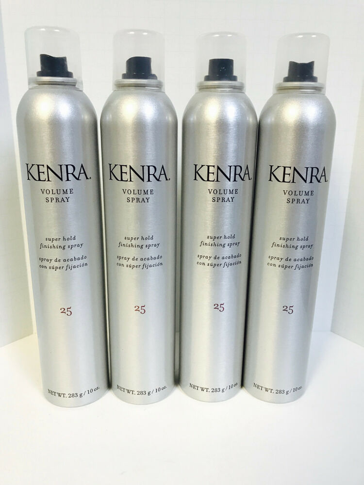 Kenra 25 Volume Super Hold Finishing Hairspray 10oz X4