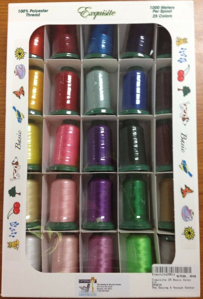 Exquisite Poly X40 Popular Basic Embroidery Thread Set 1100 Yd New