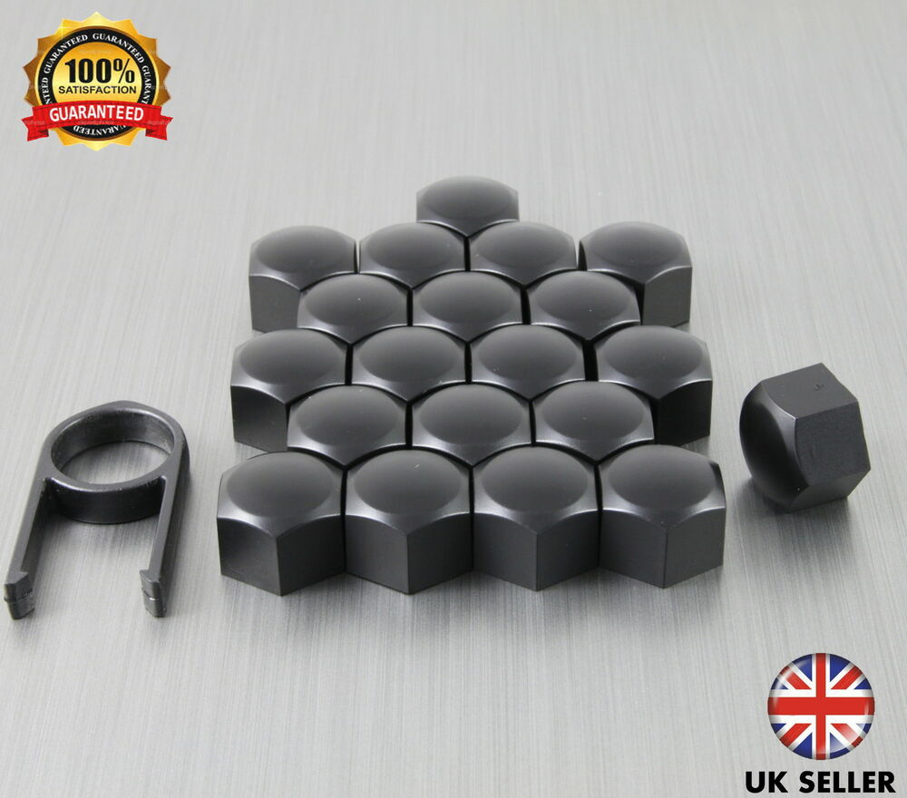 20 Car Bolts Alloy Wheel Nuts Covers 17mm Black For