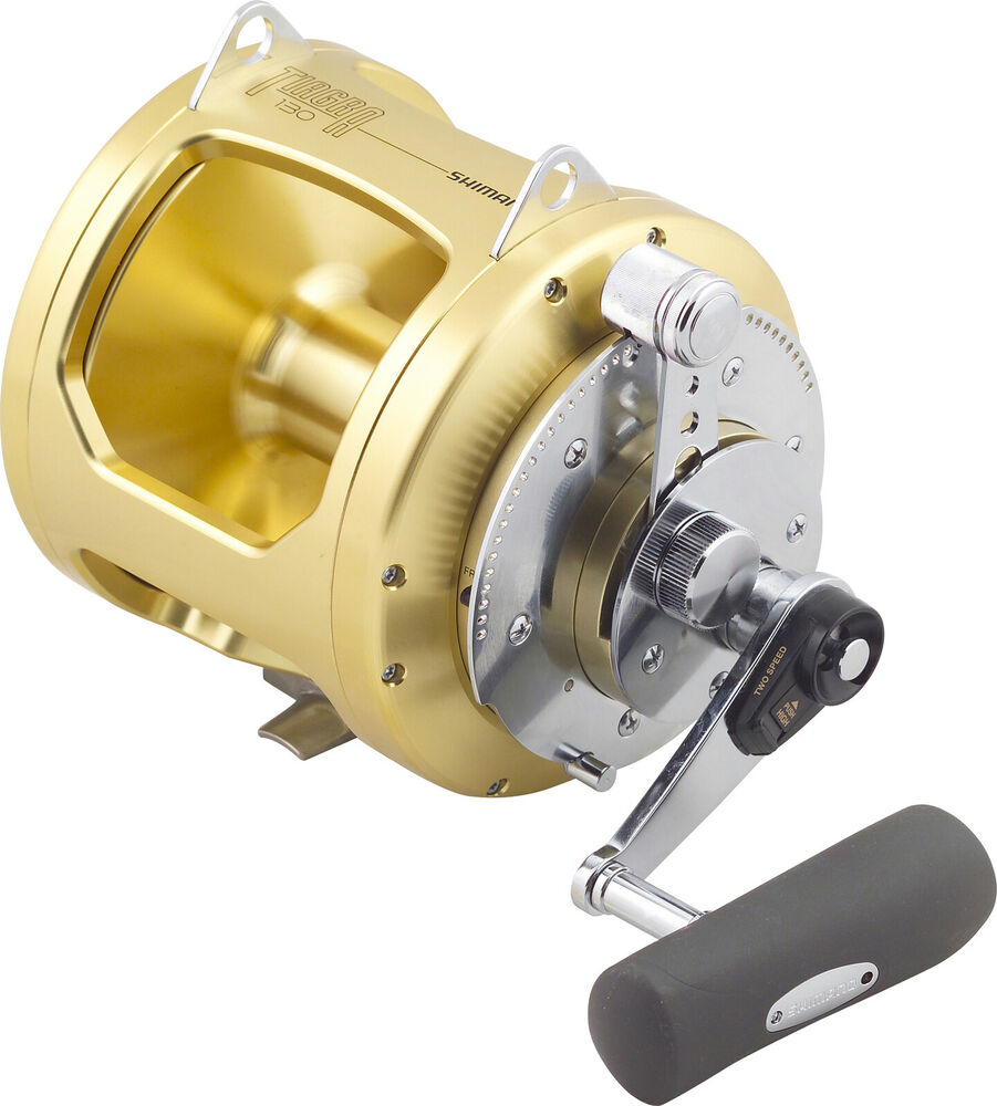 Shimano tiagra 130a overhead game fishing reel brand new for Best fishing reel brands