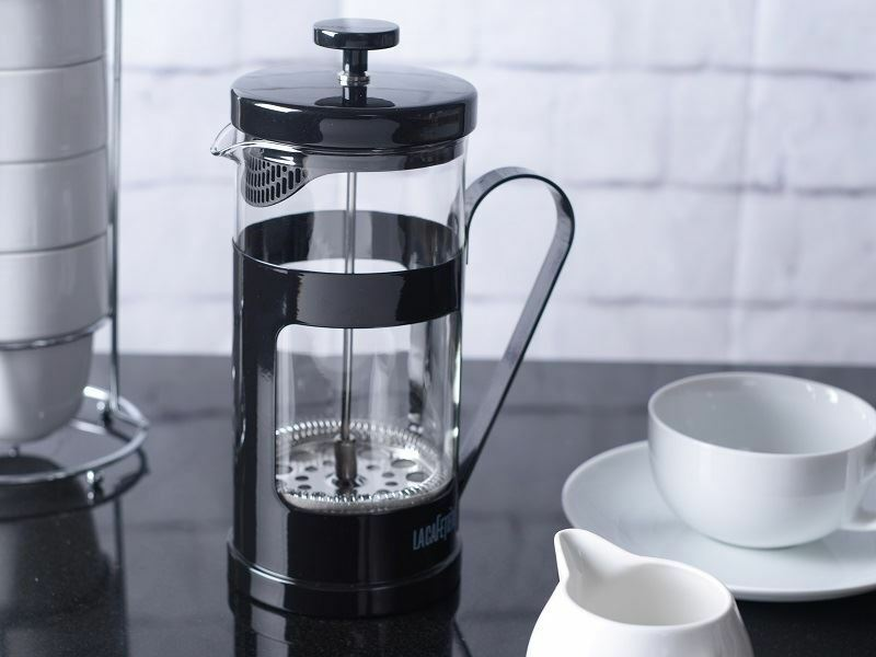 LA CAFETIERE Monaco Black 8 CUP French Press GROUND COFFEE Maker Plunger Filter eBay