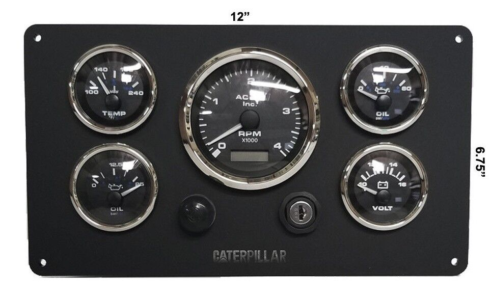 Cat Gauge Set  Marine Grade Dashboard For Caterpillar