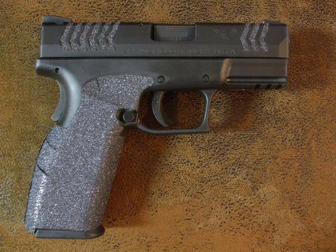 Black Textured Rubber Grips For The Springfield Armory Xdm