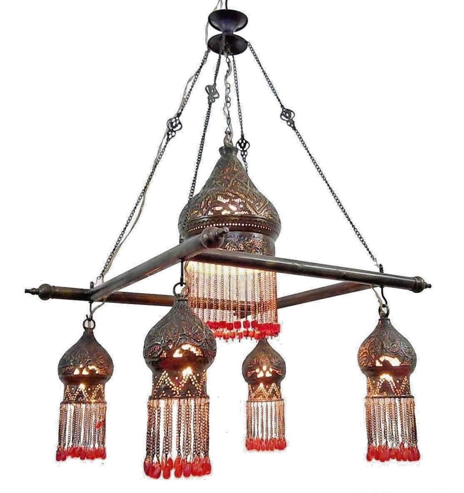 Br216 Antique Reproduction Beaded Down Light Mosaic