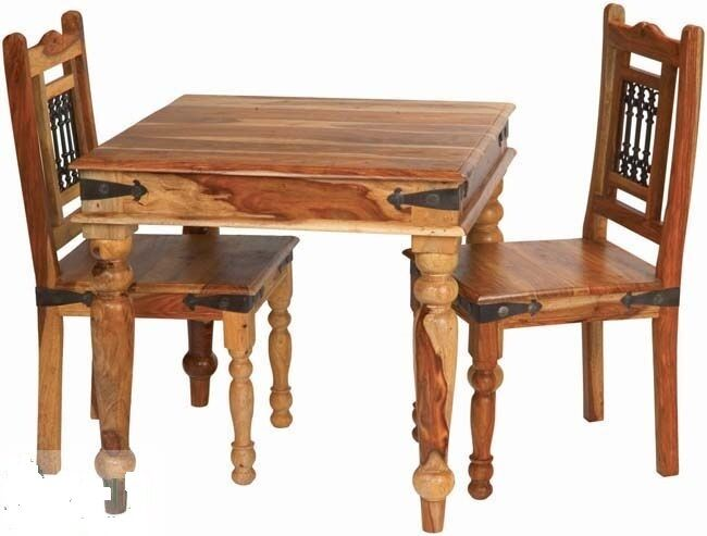 brand new jali indian solid sheesham wood dining table and 4 chairs ebay. Black Bedroom Furniture Sets. Home Design Ideas
