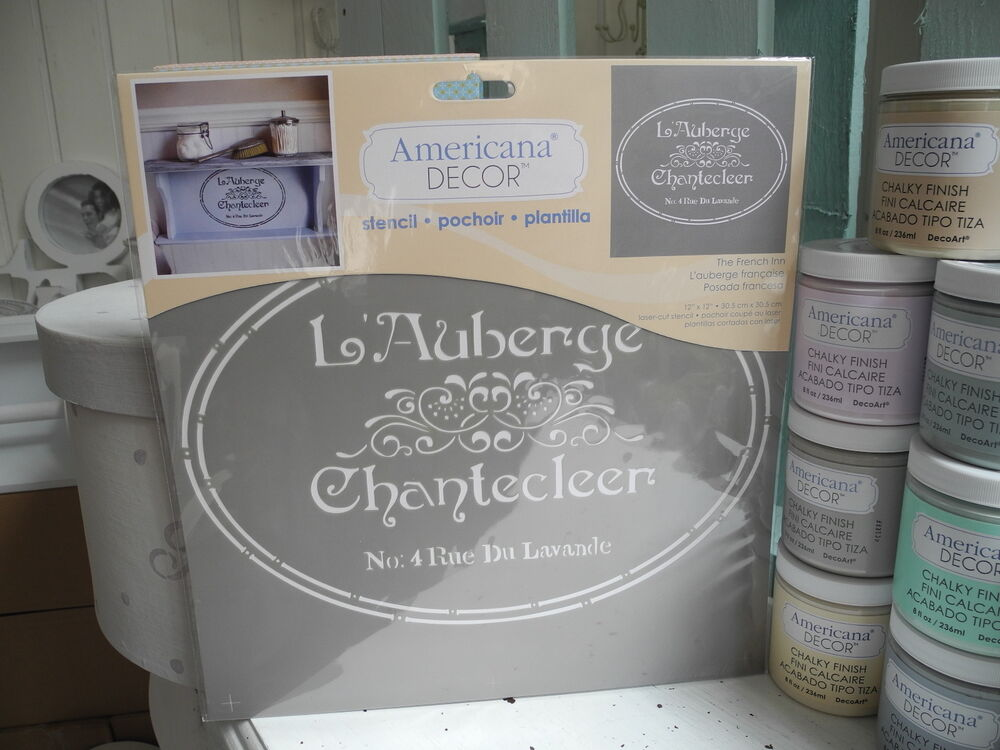 xl schablone m bel wand americana ornament french stencil shabby chic diy 07 ebay. Black Bedroom Furniture Sets. Home Design Ideas
