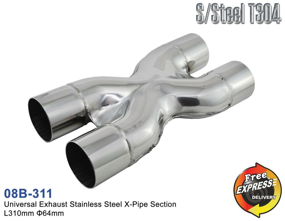 Universal Exhaust Stainless Steel X Pipe Section Divider