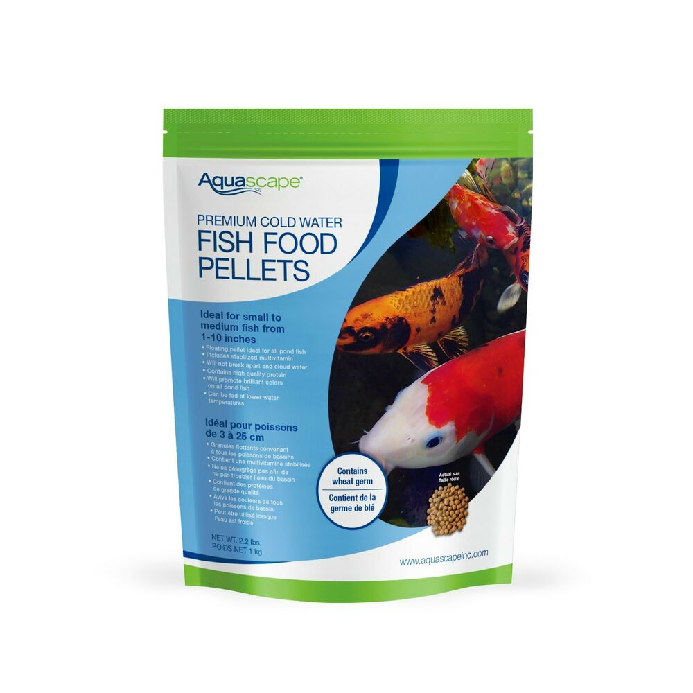 Aquascape premium cold water fish food pellets 2 2 lb for Fish food pellets