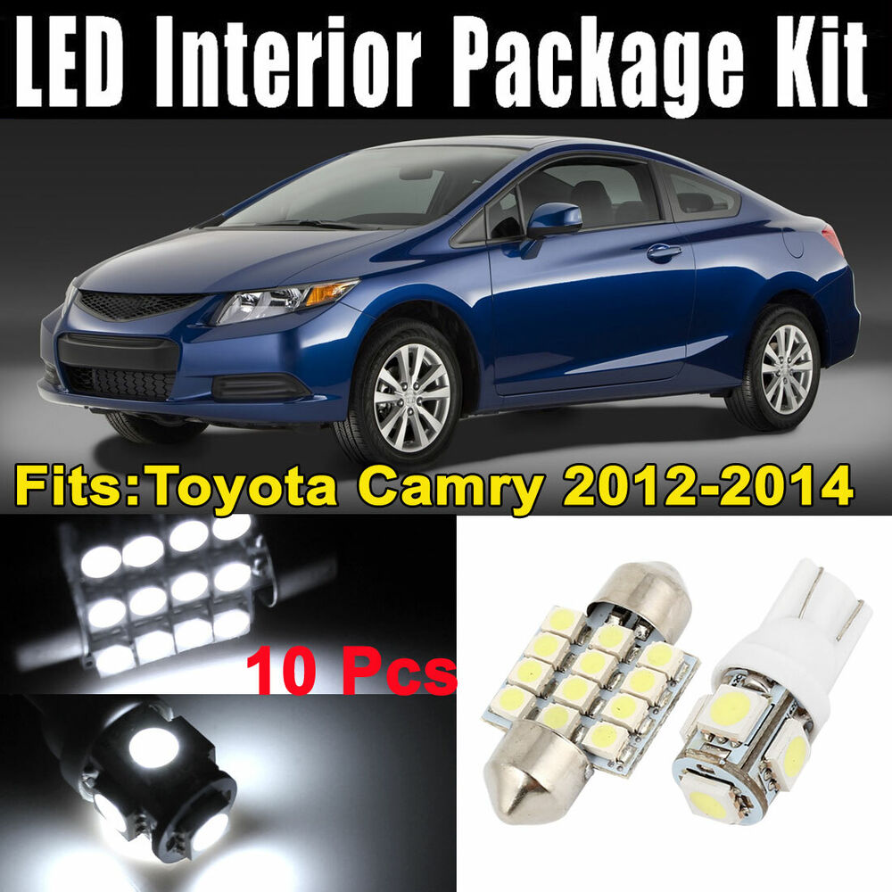 10pcs White Led Map Dome Light Interior Package Kit For Honda Civic 2006 2012 Ebay