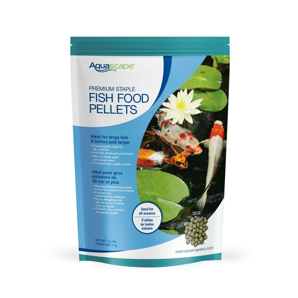 Aquascape premium staple pond fish food pellets 4 4 lb for Pond fish food