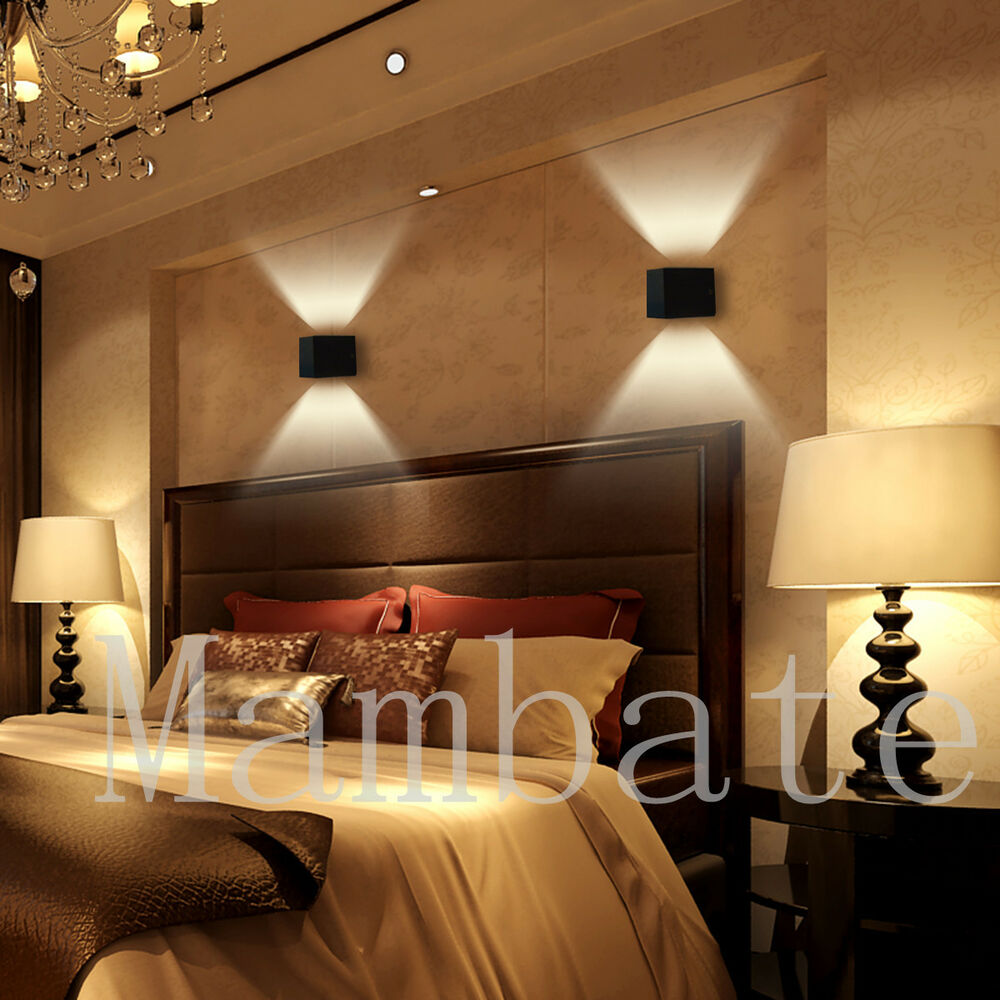 3w led square wall lamp hall porch walkway bedroom. Black Bedroom Furniture Sets. Home Design Ideas