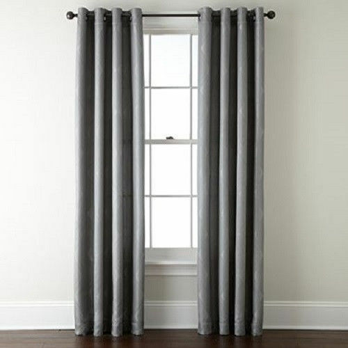 1 Silver Panel Blackout Heavy Thick Silver Grommet Window