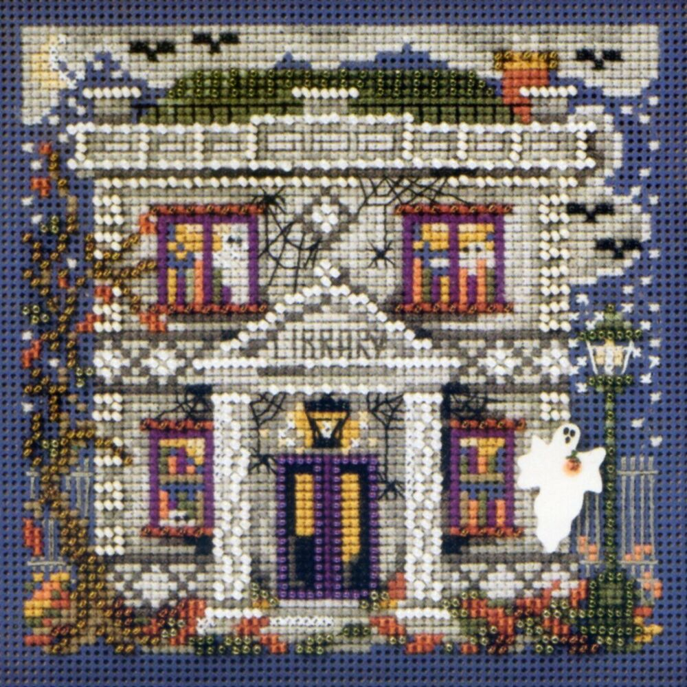Haunted Library Cross Stitch Kit Mill Hill 2010 Buttons ...