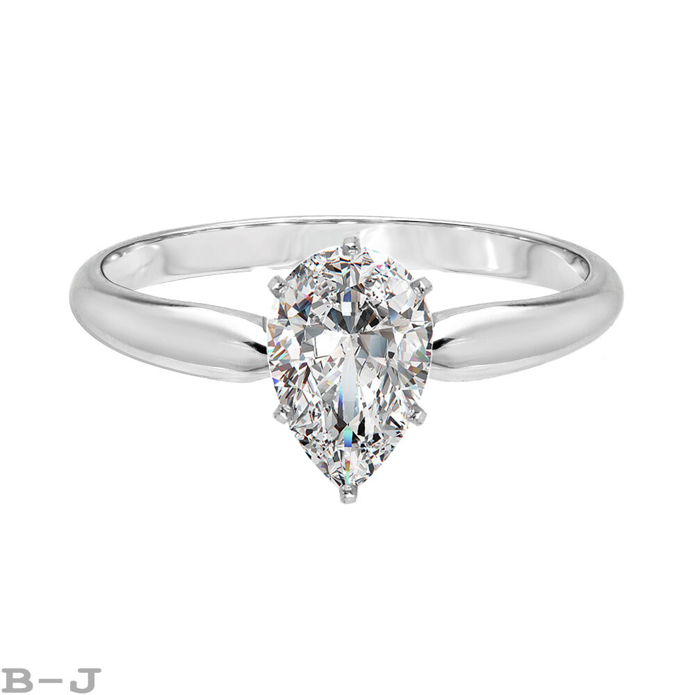 10 ct pear cut solitaire engagement wedding ring size 65 for 1 ct wedding ring