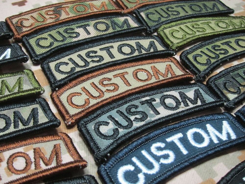 arc custom name tape text brand morale tactics military embroidery patch ebay. Black Bedroom Furniture Sets. Home Design Ideas