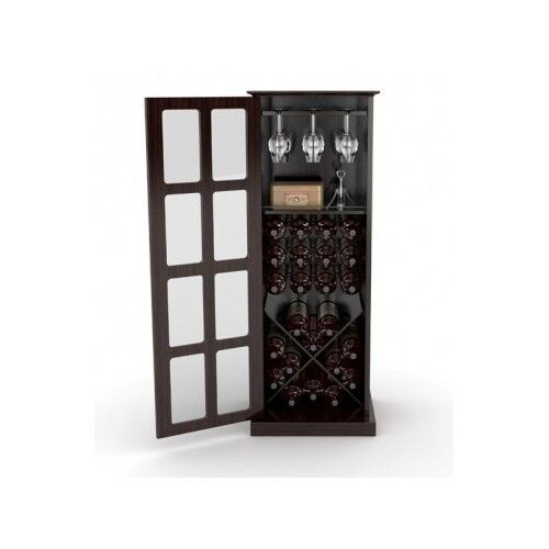 Tall Wine Cabinet Storage Wooden 24 Bottle Bar Storage Cellar Rack Pantry Hutch Ebay