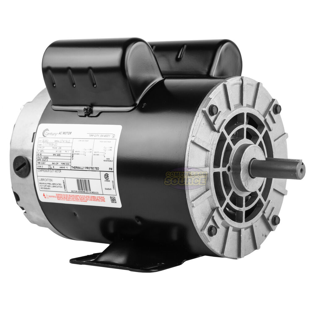 New 3 HP 3450 RPM Air Compressor 60 Hz    Electric       Motor    115230    Volts    Century B383 685650062945   eBay