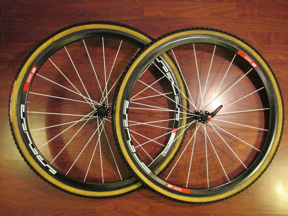 Dt Swiss Carbon Tubulars Bladed Cyclocross Cx Wheel Set