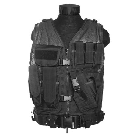 img-Army USMC Tactical Assault Combat Military Vest Pouches Holster Carrier Black