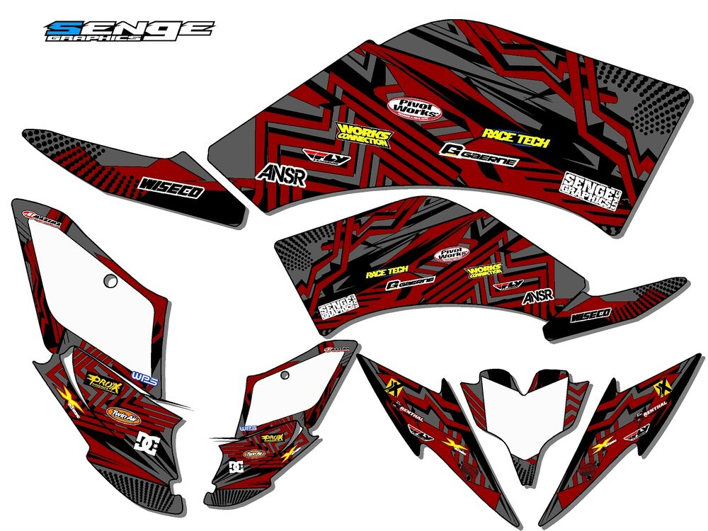 Raptor 250 yamaha graphics kit deco stickers atv quad 4 for Sticker deco